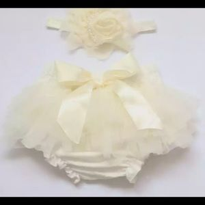 NWOT- Baby tutu diaper cover with headband 💕
